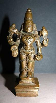 18Th Century Indian Bronze Vishnu - Fine Detail & Patina