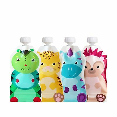 ChooMee Snackn - Reusable Food and Drink Pouch Set   Soft Feel + Double Lock Zip