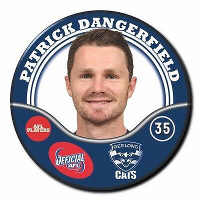 2017 AFL Geelong Player Badge - DANGERFIELD Patrick