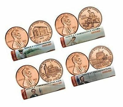 2009 Lincoln Cent Rolls - Both P/D Rolls of Each Design - All 8 Rolls!
