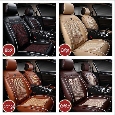 Universal Luxury 3D Front Seat PU Leather Car Seat Cover Set Cushion 2 Piece Set