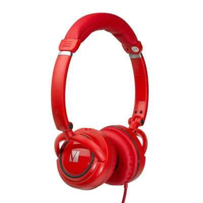 Verbatim On-Ear Audio Headphones - Red