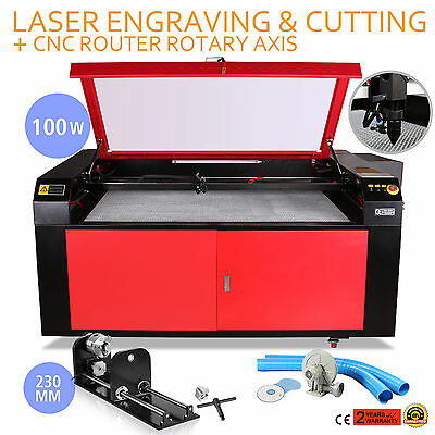 100W CO2 Laser Engraving CNC Router Rotary Axis Rotary Crafts Artwork Usb