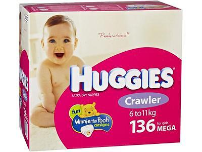 42287 Nappy Huggies Crawler Girl Cs136