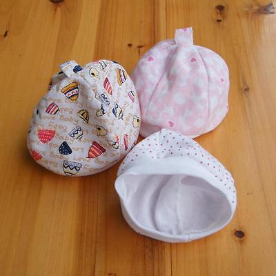 NEW Girls/boy Baby Hats Cute Cotton Stretchy Beanie Lace Up Newborn Infant UU