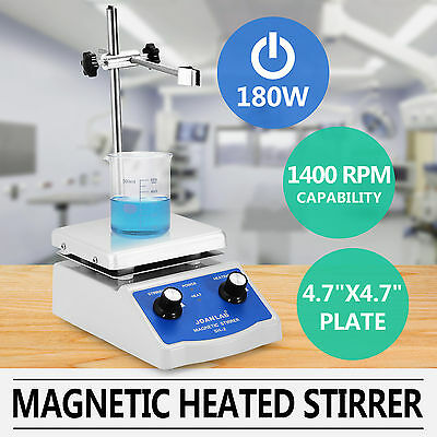 SH-2 Magnetic Stirrer Mixer W/Hot Plate Heating Hotplate Mixer Dual Controls Lab