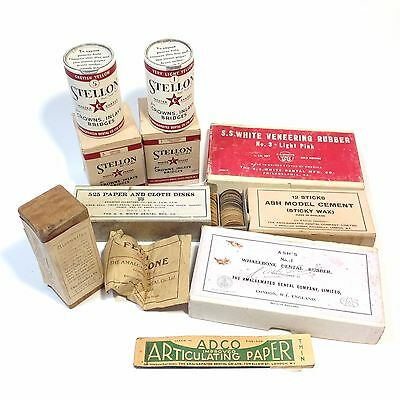Lot of Vintage Medical / Dental Packaging / Consumables