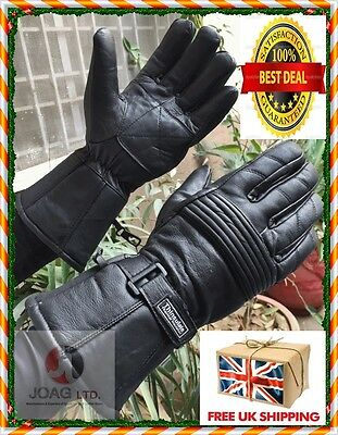 Thermal Motorbike Motorcycle Genuine Leather Gloves Protection Winter & Summer