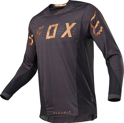 FOX 17 Flexair Moth Le MX Off Road Motorcross Jersey Black Gold