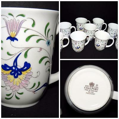 "Coalport Pageant Flowers Design:  Mugs 3 3/4"" UNUSED MINT"