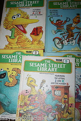 The Sesame Street Treasury Book Volume # 1 to 5  1983 ed