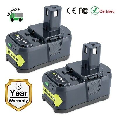 2 Pack New 18V 4.0Ah P108 Li-ion Replacement Battery for Ryobi 18V ONE+ Tool