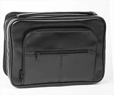Bible Cover - Deluxe Organizer w/Study Kit-Xlg Black