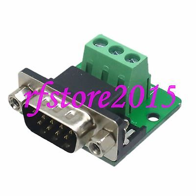 1pce Connector DB9 9Pin VGA male D-Sub Breakout PCB Board RS232/485/422