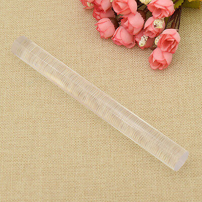 Solid Acrylic Polymer Clay Roller Rolling Pin Transparent Craft DIY Tools New