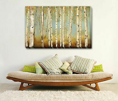 Autumn Forest Stretched Canvas Print Framed Wall Art Home Office Decor Gift