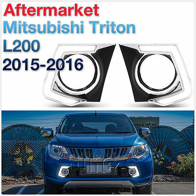 LED Daytime Running Light DRL Drive Lamp Mitsubish L200 Triton 2015 2016 2017 E