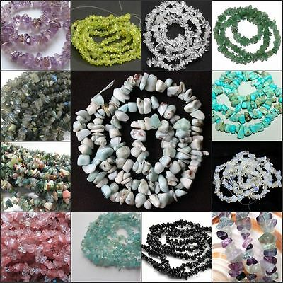 New natural freeform Gemstone chips loose Beads strand DIY jewelry making 16""