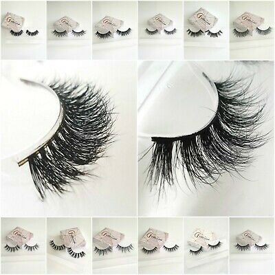 £2.99 SALE!Luxury 3D Mink False Eyelashes Long Thick Wispy Natural Eye Lashes UK