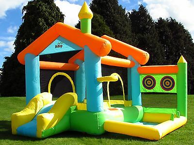 BeBop Bounce House Kids Bouncy Castle and Large Slide for Children Garden