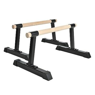 Push Up Stands Wood Handle Bars Body Press Home Fitness Gym Exercise Equipment