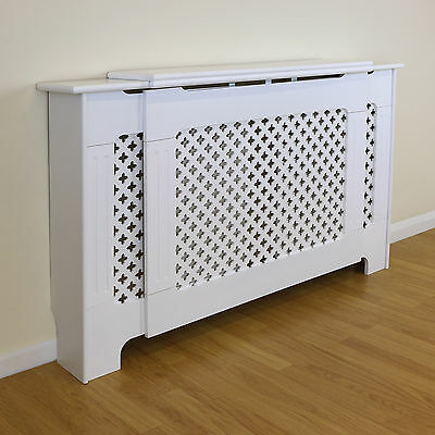 Adjustable White Traditional/Classic Size Radiator Cabinet/Cover MDF Wood Case