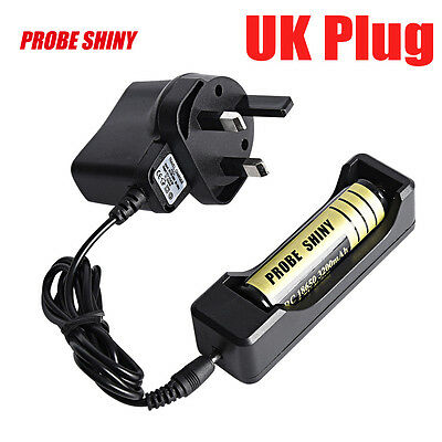 120CM LI-ION Battery Charger for Rechargeable 18650 3.7V Battery Travel UK Plug