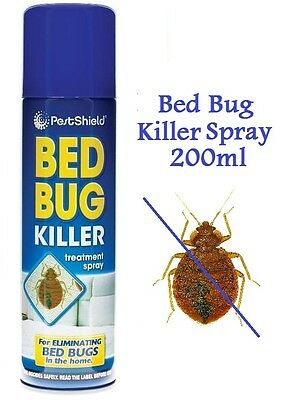 200ml Indoor Bed Bug Killer Spray Carpet Mattress Treatment Aerosol Pestshield