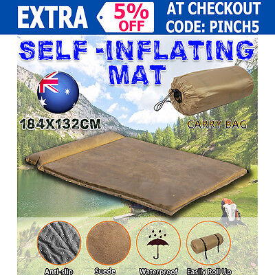 Mosciuszko Double Self inflating Mattress Mat Sleeping Pad AirBed Camping Hiking