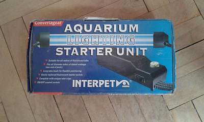 "Interpet Aquarium Lighting Starter Unit 35/40w 1"" End Cap Fish Tank"
