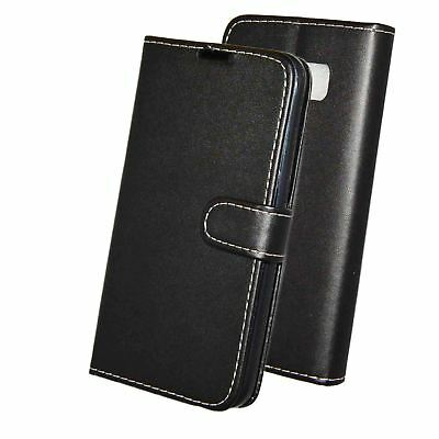Black Premium PU Leather Book/Wallet/Pouch case For Lenovo P2