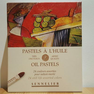 Sennelier 24 Still Life French Artists Oil Pastels Set for Drawing + Colouring
