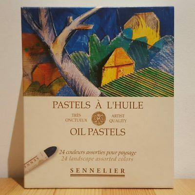 Sennelier 24 Landscape French Artists Oil Pastels Set for Drawing + Colouring