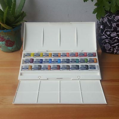 Winsor & Newton 24 Whole Pan Palette Cotman Art Students Watercolour Paint Set