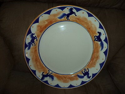 "13"" Ceramic Horse Plate by Huntsman"