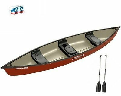 Sun Dolphin Scout  Elite Canoe    Escape The Indoors ™ Hazelnut Red Free Paddles