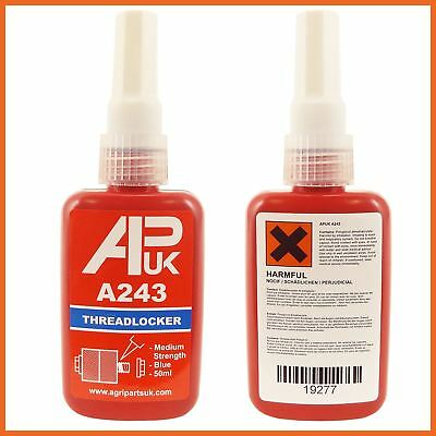 Medium Strength Threadlocker 50ml Adhesive Glue Thread APUK A 243 like loctite