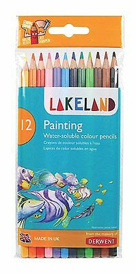 Derwent Lakeland Painting Pencils 33254 Assorted Pack of 12   (LL3254)