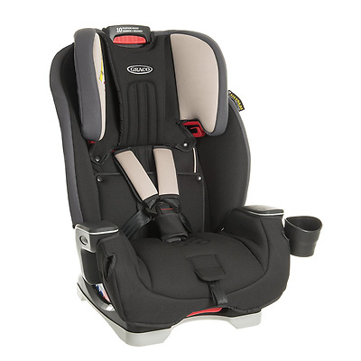 Graco Milestone All-in-One Car Seat - Aluminium - From New Borns to 12Yrs Old