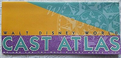 Rare 1998 Disney Wdw Cast Atlas Magic Kingdom Epcot Mgm Studios Ak Tunnels