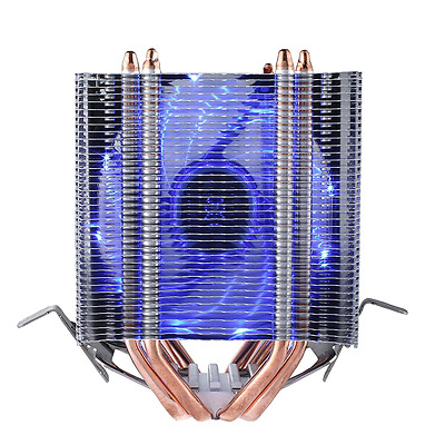 upHere Quiet Dual Tower Heat-Sink CPU Cooler with Blue LED Fan (For AMD & Intel)