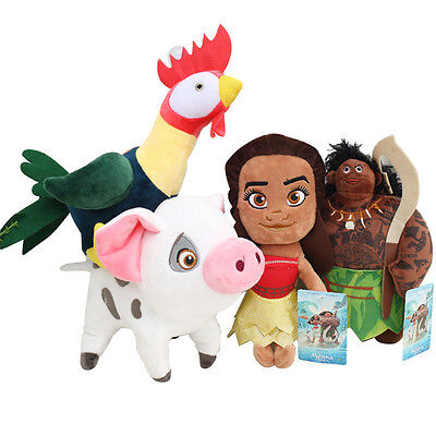 "8"" Plush Doll Moana Maui Heihei Pig Pua Soft Souvenir Stuffed Cotton Kids Teddy"