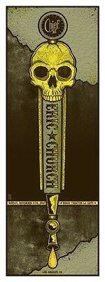 Eric Church Nokia Theater CA 11/4/2012 Poster Signed & Numbered #/150 Rare!!