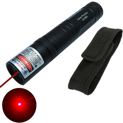 8000M Powerful 850 Red Laser Pointer 1mw 650nm Laser Light Beam Foucs + Hoslter