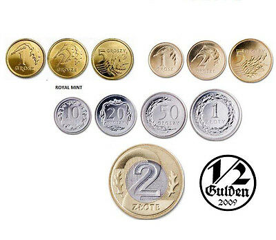 Poland Full Set Of 11 Coins Zloty 2014 Uncirculated Numishop