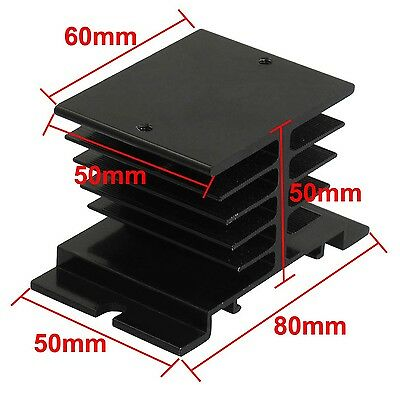 uxcell Aluminum Heat Sink for Solid State Relay SSR Heat Dissipation 10A-40A