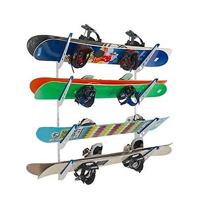 Metal Snowboard Storage Rack | Adjustable Home Wall Mount | NEW