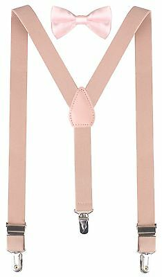 CHILD Suspender Bow Tie FOR KIDS Pre-Tied Bowtie Suspenders - FULLY ADJUSTABLE