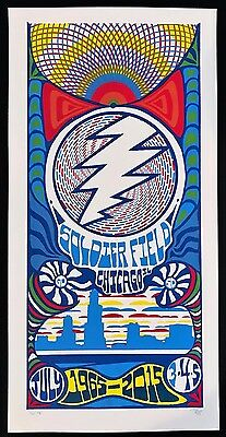 Grateful Dead Chicago GD 50 Poster Print Trip Tripp 7/3/15 Gd50 Fare Thee Well