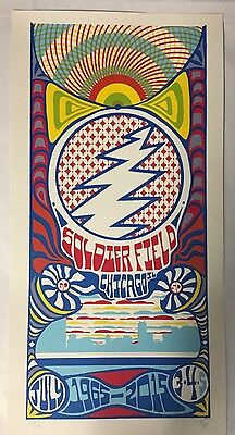 Grateful Dead Chicago GD 50 Poster Print Trip Tripp 7/5/15 Gd50 Fare Thee Well
